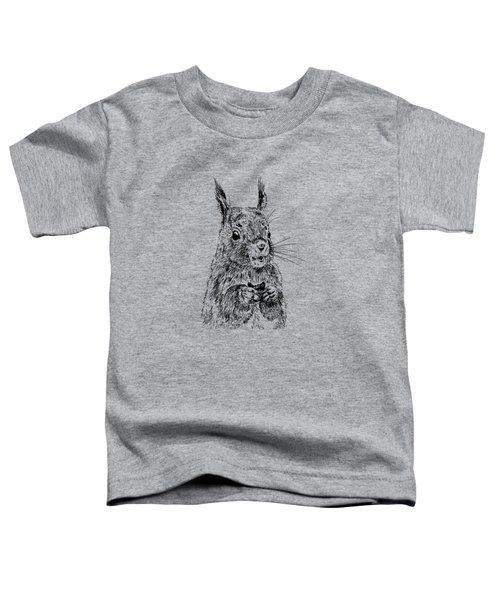 Eating Squirrel Toddler T-Shirt by Masha Batkova