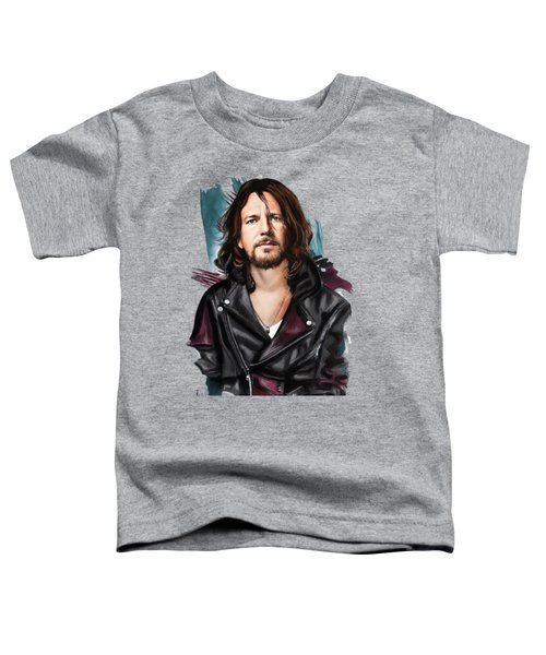 Eddie Vedder Toddler T-Shirt by Melanie D
