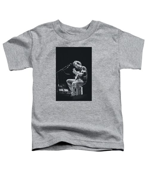 Eddie Vedder Playing Live Toddler T-Shirt by Marco Oliveira
