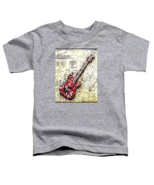 Eddie's Guitar 3 Toddler T-Shirt by Gary Bodnar