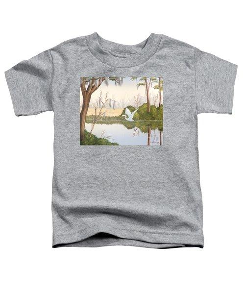 Egret In Flight 1 Toddler T-Shirt