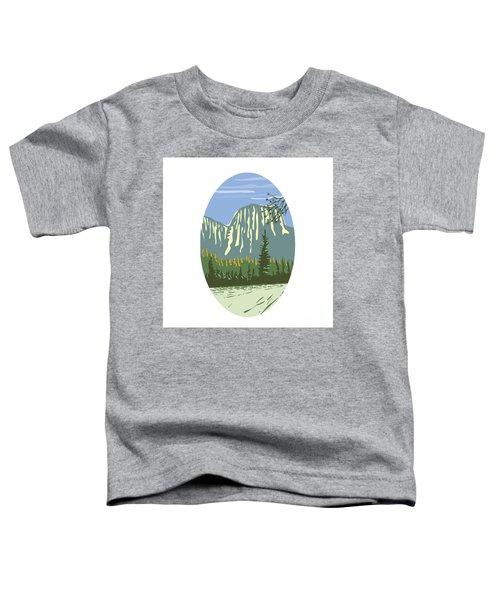 El Capitan Granite Monolith Oval Wpa Toddler T-Shirt