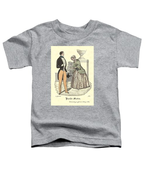 Elegant Vintage Biedermeier Fashion Toddler T-Shirt