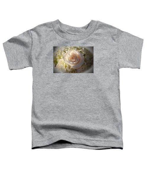 Elegant White Roses Toddler T-Shirt