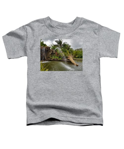 Elephant Waterfall Toddler T-Shirt