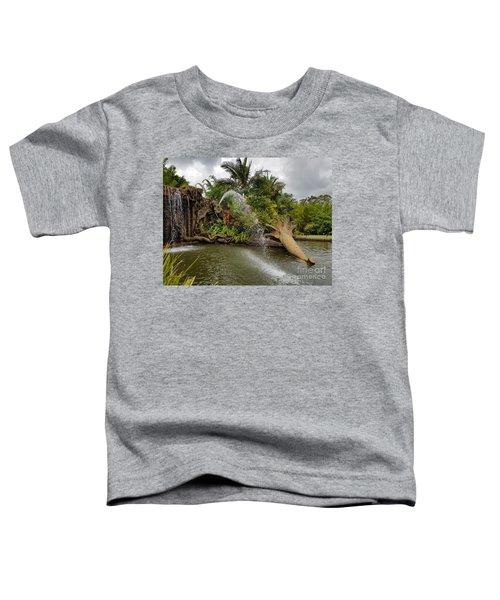 Elephant Waterfall Toddler T-Shirt