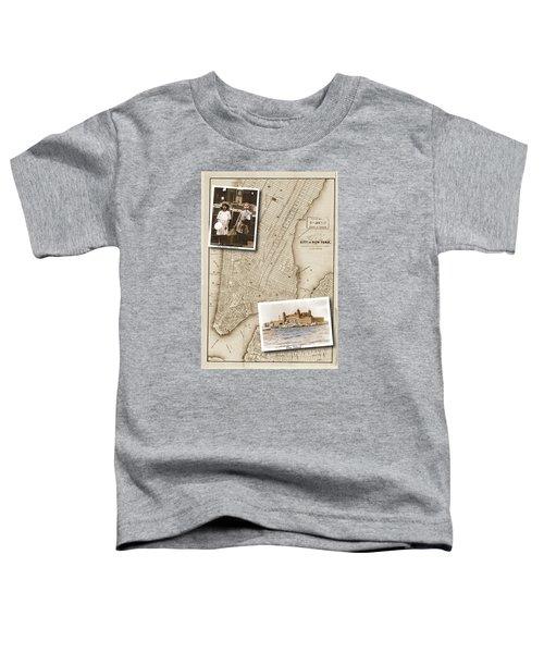 Ellis Island Vintage Map Child Immigrants Toddler T-Shirt