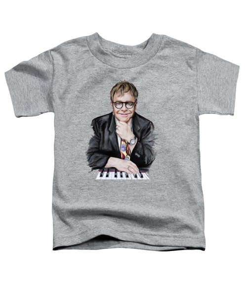 Elton John Toddler T-Shirt by Melanie D