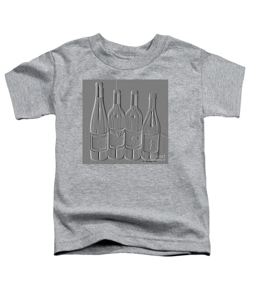 Embossed Wine Bottles Toddler T-Shirt