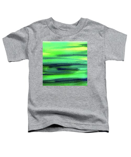 Emerald Flow Abstract Painting Toddler T-Shirt