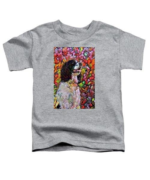 English Springer Spaniel In The Garden Toddler T-Shirt