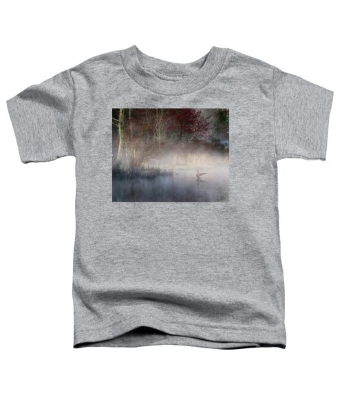 Toddler T-Shirt featuring the photograph Ethereal Goose by Bill Wakeley