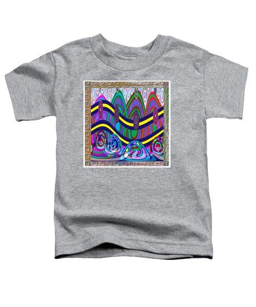 Ethnic Wedding Decorations Abstract Usring Fabrics Ribbons Graphic Elements Toddler T-Shirt by Navin Joshi
