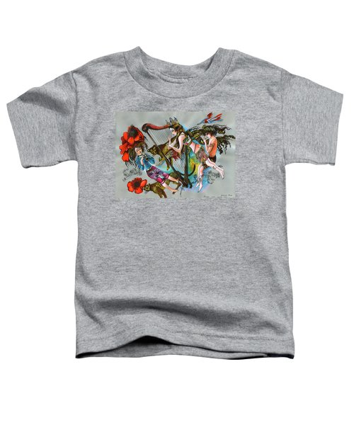 Even Leopards Love The Music Toddler T-Shirt