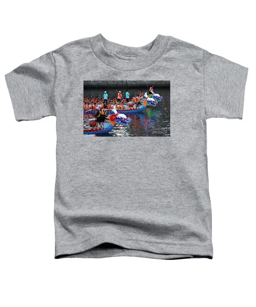 Evening Time Dragon Boat Races In Taiwan Toddler T-Shirt