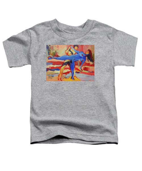 Exercising On The Beach Toddler T-Shirt
