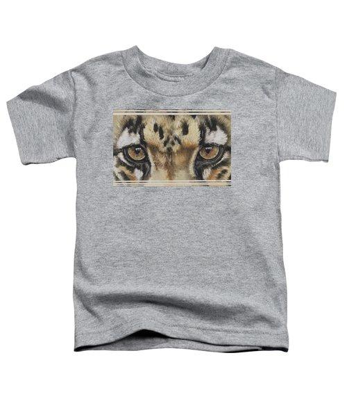Clouded Leopard Gaze Toddler T-Shirt