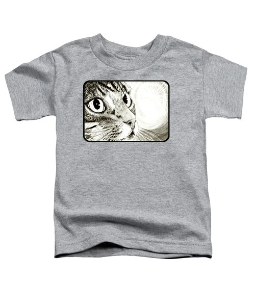 Fairy Light Tabby Cat Drawing Toddler T-Shirt