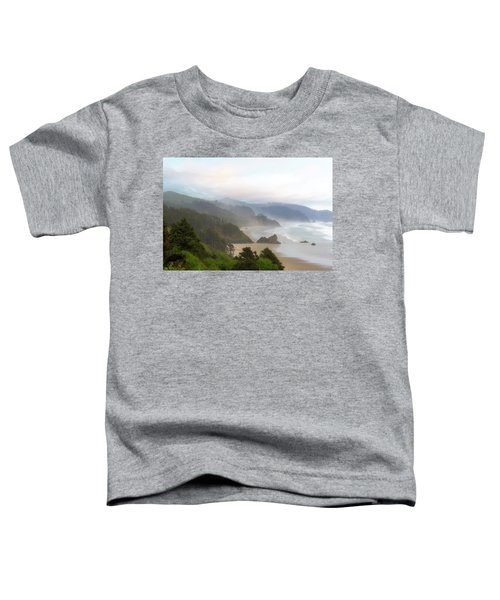 Falcon And Silver Point At Oregon Coast Toddler T-Shirt