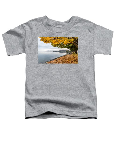 Fall Colors Framing Commencement Bay Toddler T-Shirt