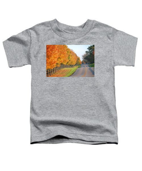 Fall In Horse Farm Country Toddler T-Shirt
