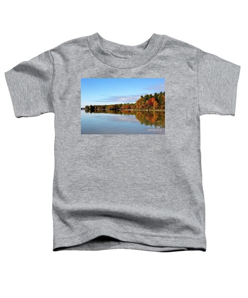Fall Tree Reflections Lake Sabago Maine Toddler T-Shirt