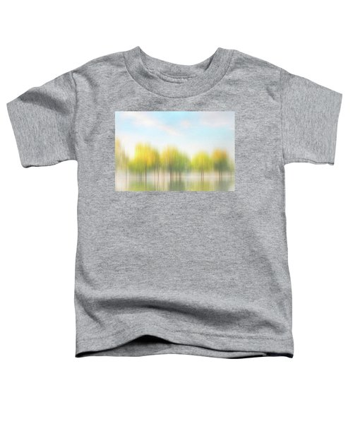 Fall Trees On Flooded Lake Toddler T-Shirt