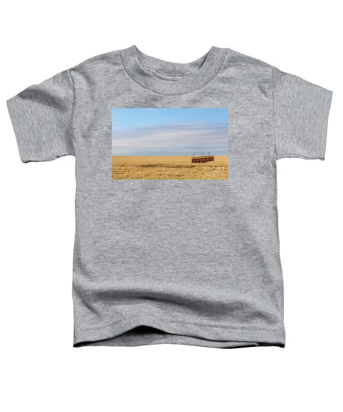 Farm Trailer In The Middle Of Field Toddler T-Shirt