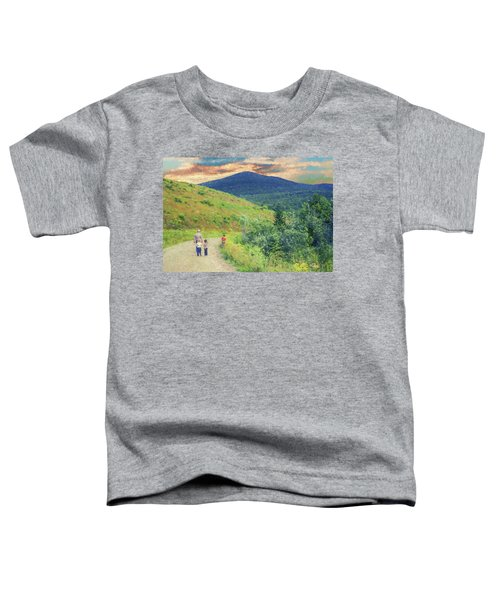 Father And Children Walking Together Toddler T-Shirt