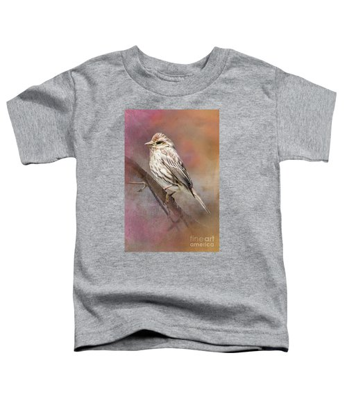 Female Sparrow On Branch Ginkelmier Inspired Toddler T-Shirt