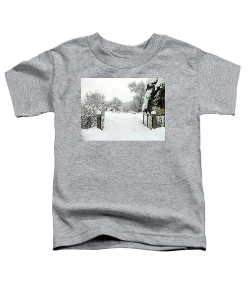 Fence And  Gate In Winter Toddler T-Shirt