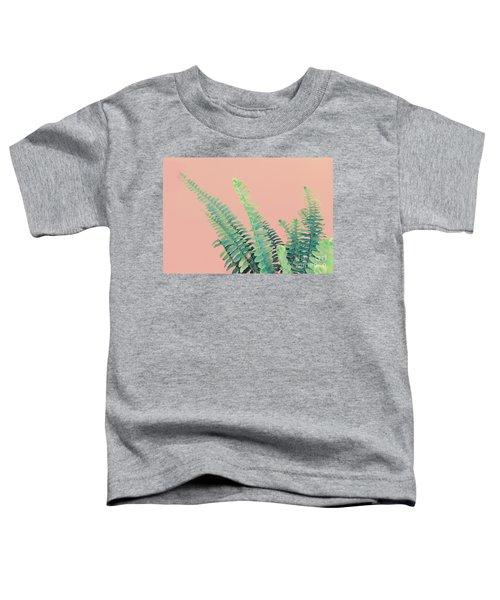 Ferns On Pink Toddler T-Shirt