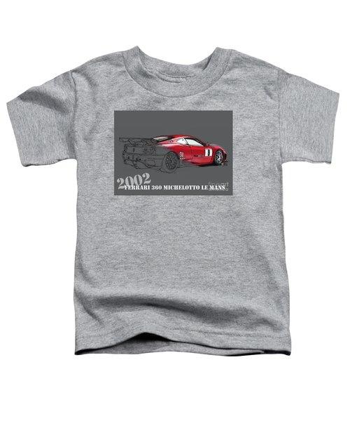 Ferrari 360 Michelotto Le Mans Race Car. Grey Background Toddler T-Shirt