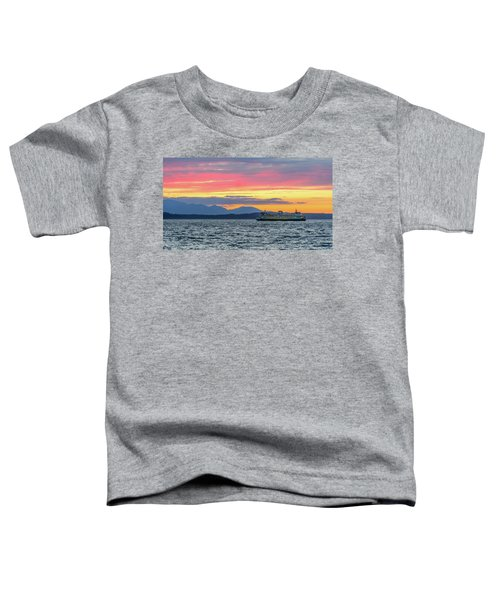 Ferry In Puget Sound Toddler T-Shirt
