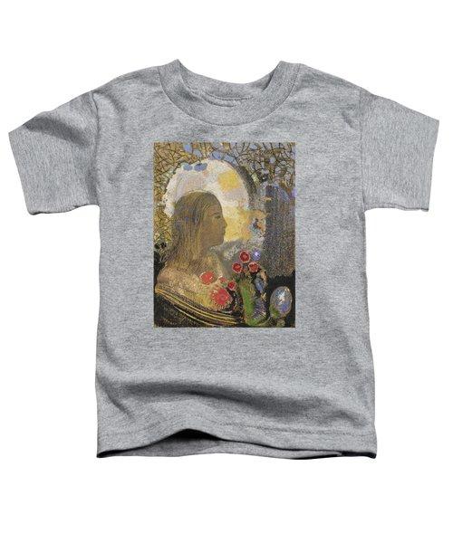 Fertility. Woman In Flowers Toddler T-Shirt