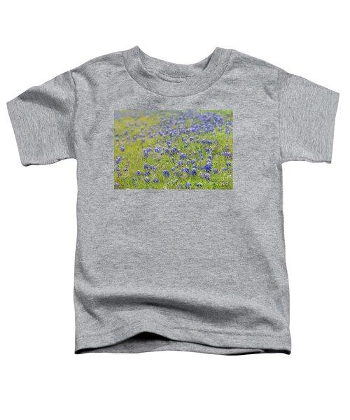 Field Of Blue Bonnet Flowers Toddler T-Shirt