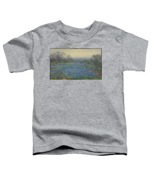 Toddler T-Shirt featuring the painting Field Of Bluebonnets by Julian Onderdonk