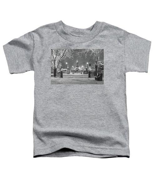 First Snow At Boston's Public Garden Toddler T-Shirt