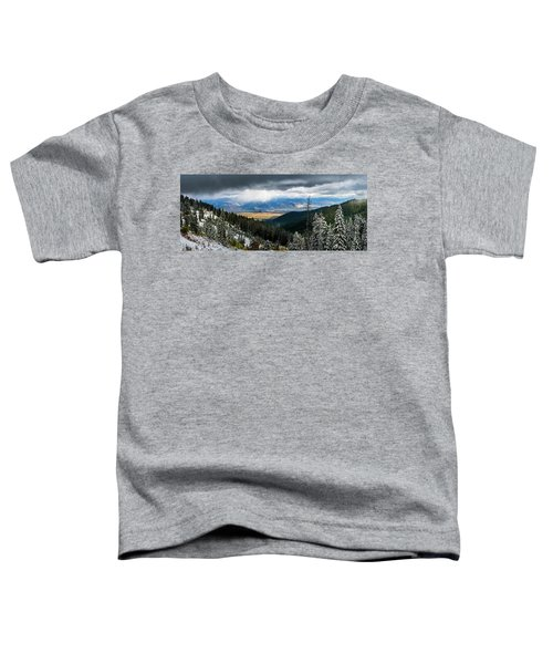 First Snow, Jackson From Teton Pass Toddler T-Shirt