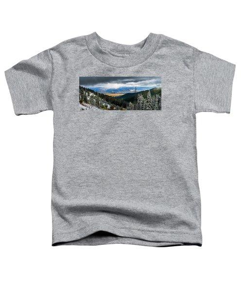 First Snow, Jackson From Teton Pass Toddler T-Shirt