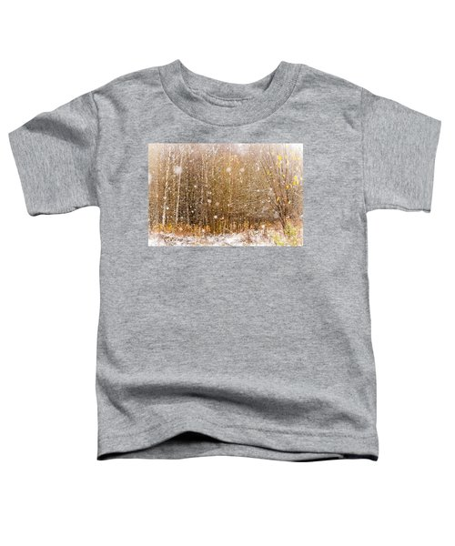 First Snow. Snow Flakes I Toddler T-Shirt