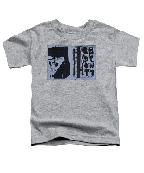 Fisher Covers Reverse White On Black Toddler T-Shirt