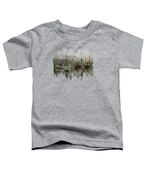 Fishing Fleet Dock Five Toddler T-Shirt