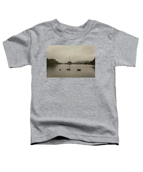 Fishing On Foggy Columbia River Toddler T-Shirt