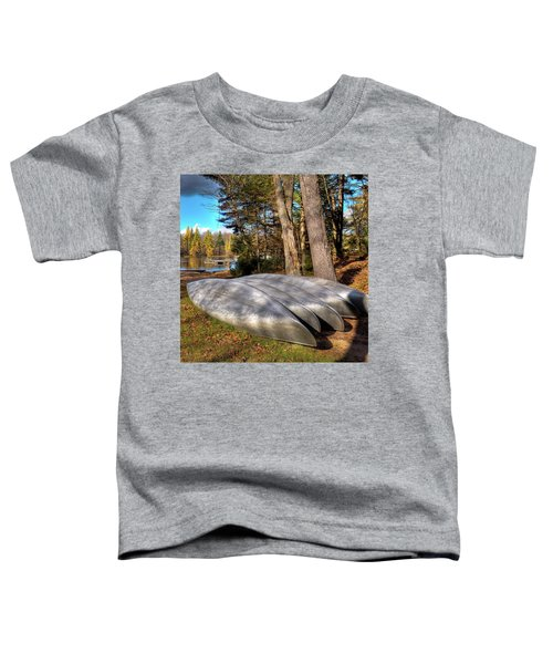 Toddler T-Shirt featuring the photograph Five Canoes At Woodcraft Camp by David Patterson