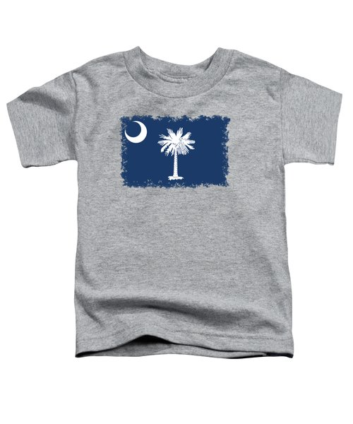Flag Of South Carolina Authentic Version Toddler T-Shirt