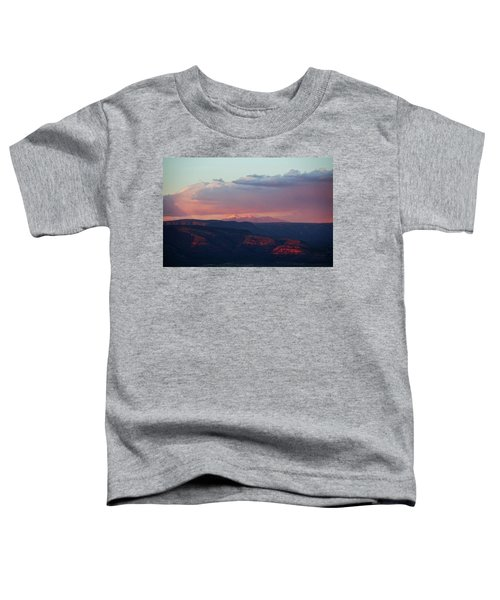 Flagstaff's San Francisco Peaks Snowy Sunset Toddler T-Shirt