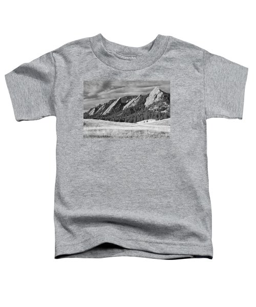Flatiron Morning Light Boulder Colorado Bw Toddler T-Shirt