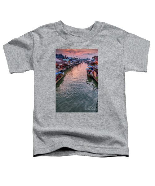 Floating Market Sunset Toddler T-Shirt