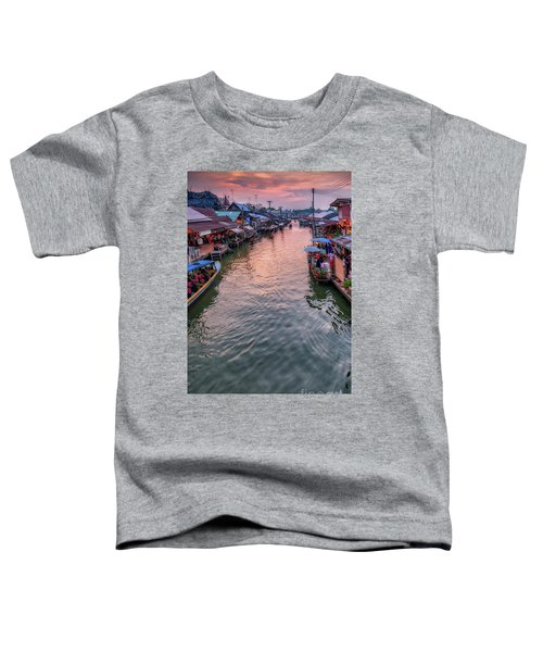 Floating Market Sunset Toddler T-Shirt